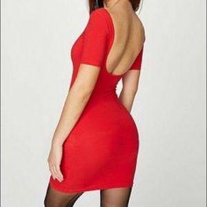 American Apparel Double U Back Red Dress